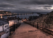 Morning over 199 steps, Whitby, United Kingdom Stock Photos