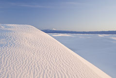Morning over the White Sands Stock Image