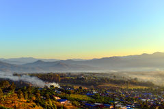 Morning in PAI, Thailand. PAI, Thailand in the morning with sunrise Royalty Free Stock Image
