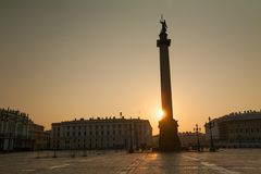 Morning at Palace Square Stock Photography