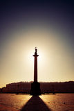 Morning at Palace Square, Saint-Petersburg Stock Photo