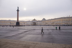 Morning at Palace square in St. Petersburg. Spring. Russia. Stock Images