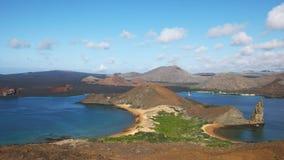 Morning pan of isla bartolome and pinnacle rock in the galapagos