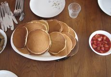 Morning Pancakes Royalty Free Stock Photography