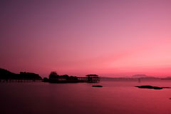 Morning at pangkor island. Morning colour at pangkor island Stock Photos