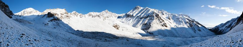 Morning panorama from Alay mountains - Kyrgyzstan Royalty Free Stock Photography