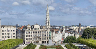 Morning panorama of Brussels Royalty Free Stock Photos