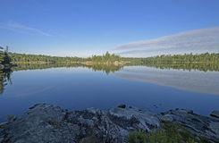 Morning Panorama in Canada. Morning Panorama on Sidney Lake in Quetico Provincial Park in Ontario Royalty Free Stock Images