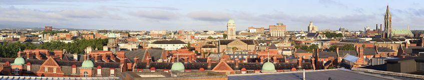 Morning panorama center of Dublin Royalty Free Stock Images