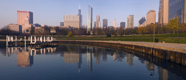 Morning panorama of Chicago Royalty Free Stock Photo