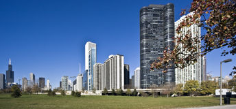 Morning panorama of Chicago Royalty Free Stock Photography