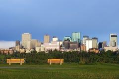 Morning panorama of Edmonton Royalty Free Stock Photos