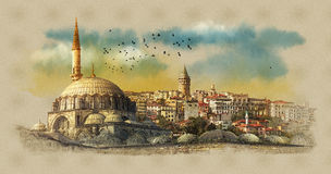 Morning panorama of Istanbul, Turkey. Stock Photography