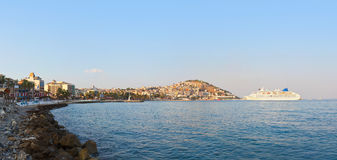 Morning panorama of Kusadasi Turkey Royalty Free Stock Photos