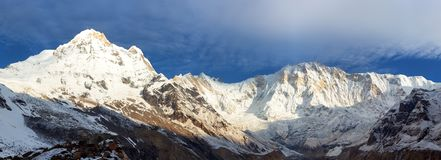 Mount Annapurna from Annapurna south base camp Stock Photography