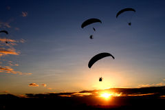Morning Paragliding Stock Photos