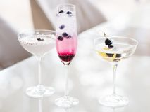Morning party alcoholic cocktails assortment. Concept. bad habits. festive atmosphere royalty free stock photos