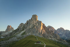 Morning in Passo Giau, Dolomites, Italy Stock Photo