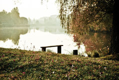 Morning. Peaceful morning near lake on holiday somewhere in the countryside is the best way to relax or maybe fishing Stock Images