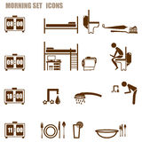 Morning person icon set Royalty Free Stock Image