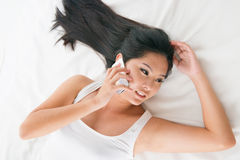 Morning phone call Royalty Free Stock Image