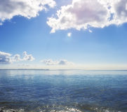 Morning photo of  the ocean Royalty Free Stock Image