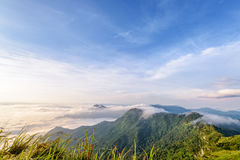 Morning in Phu Chi Fa Forest Park Royalty Free Stock Images
