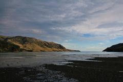 Morning at Pigeon Bay, Banks Peninsula Royalty Free Stock Photo