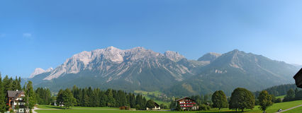Morning at the plateau Ramsau Royalty Free Stock Photos
