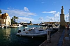 Morning at Portomaso Marina Stock Image