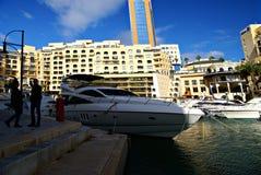 Morning at Portomaso Marina Stock Photos