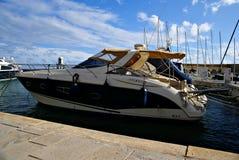 Morning at Portomaso Marina. PORTOMASO HARBOR,ST' JULIAN' S, ISLAND OF MALTA , EUROPE - NOVEMBER 8, 2014. Morning at Portomaso Marina area ,with luxury hotels Stock Photo