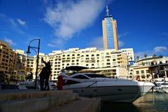 Morning at Portomaso Marina Royalty Free Stock Photography