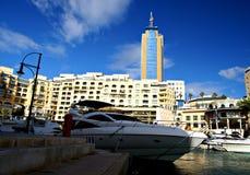 Morning at Portomaso Marina Royalty Free Stock Images
