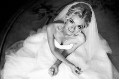Morning portrait of beautiful bride Stock Image