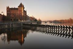 Morning Prague Riverside Royalty Free Stock Images