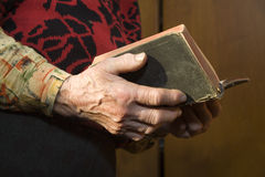 Morning prayer of old woman Stock Image