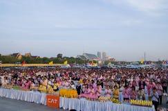 Morning Prayer at Sanam Luang in Bangkok Stock Images