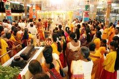 Morning Prayers in Hindu Temple Stock Photos