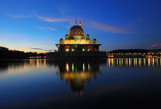 Morning Putra Mosque Royalty Free Stock Photography