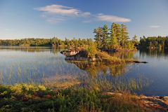 Morning in the Quetico stock photo