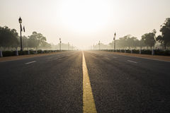 Morning of Rajpath Royalty Free Stock Photos