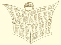 Morning reader of the press, news Royalty Free Stock Photo