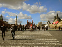 Morning in the Red Square, Moscow. Morning in the Red Square, on March 14, 2016 in Moscow, Russia Stock Photography