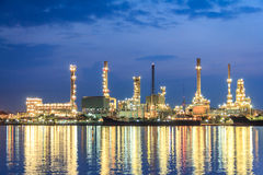 Morning Refinery Twilight Stock Photo