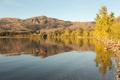 Morning Reflection Osoyoos Lake Royalty Free Stock Image