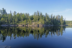 Morning Reflections in Canoe Country Stock Photography