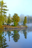 Morning Reflections on a Wildereness Lake Royalty Free Stock Photography