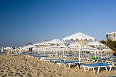 Morning at resort beach Royalty Free Stock Image