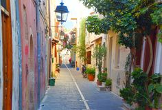 Morning in Rethymnon Royalty Free Stock Images